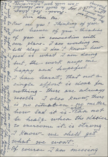 EUGENIE LEONTOVICH - AUTOGRAPH LETTER SIGNED 11/11/1947