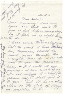 EUGENIE LEONTOVICH - AUTOGRAPH LETTER SIGNED 11/14/1947