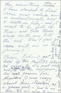 EUGENIE LEONTOVICH - AUTOGRAPH LETTER SIGNED 11/24/1947