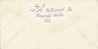EUGENIE LEONTOVICH - AUTOGRAPH ENVELOPE SIGNED 10/29/1947