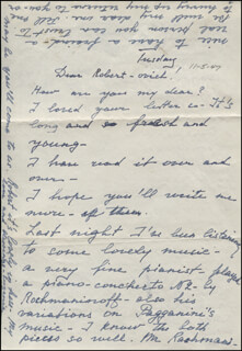EUGENIE LEONTOVICH - AUTOGRAPH LETTER SIGNED 11/05/1947