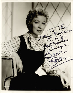 GREER GARSON - AUTOGRAPHED INSCRIBED PHOTOGRAPH