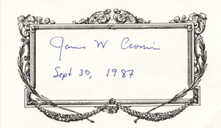 Autographs: JAMES W. CRONIN - SIGNATURE(S) 09/30/1987