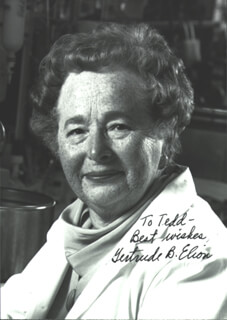 Autographs: GERTRUDE B. ELION - INSCRIBED PHOTOGRAPH SIGNED