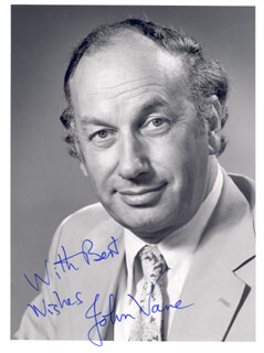 Autographs: JOHN VANE - PHOTOGRAPH SIGNED