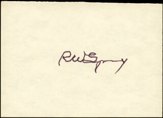 Autographs: ROGER WOLCOTT SPERRY - SIGNATURE(S)