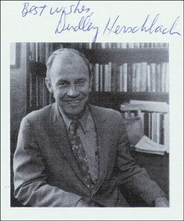 DUDLEY R. HERSCHBACH - AUTOGRAPHED SIGNED PHOTOGRAPH