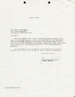 JOHNNY DOUGLAS - CONTRACT SIGNED 07/05/1983