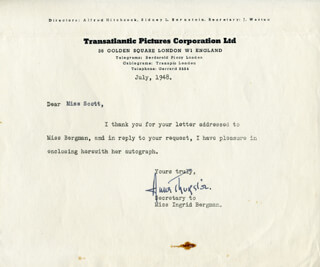 ANNE THURSTON - TYPED LETTER SIGNED 7/1948