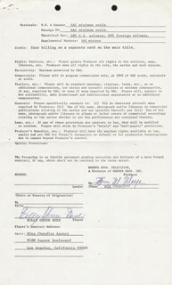 BILLY GREEN BUSH - CONTRACT SIGNED 11/01/1976