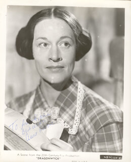 ANNE REVERE - AUTOGRAPHED INSCRIBED PHOTOGRAPH