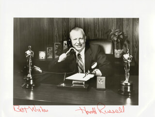 HAROLD RUSSELL - AUTOGRAPHED SIGNED PHOTOGRAPH