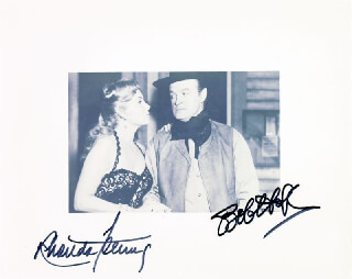Autographs: ALIAS JESSE JAMES MOVIE CAST - PHOTOGRAPH SIGNED CO-SIGNED BY: RHONDA FLEMING, BOB HOPE