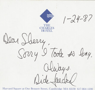 RICHARD JAECKEL - AUTOGRAPH LETTER SIGNED 01/24/1987