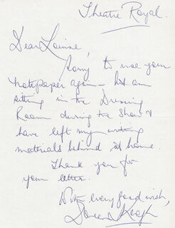 DOREEN KEOGH - AUTOGRAPH LETTER SIGNED