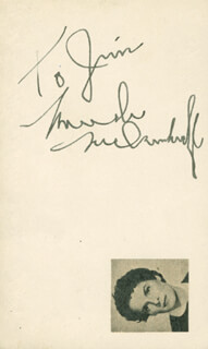 MERCEDES McCAMBRIDGE - INSCRIBED SIGNATURE