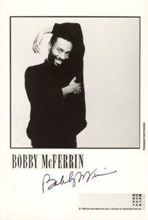 BOBBY McFERRIN - PRINTED PHOTOGRAPH SIGNED IN INK