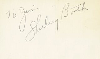 SHIRLEY BOOTH - INSCRIBED SIGNATURE CIRCA 1952