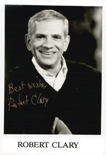 ROBERT CLARY - PRINTED PHOTOGRAPH SIGNED IN INK