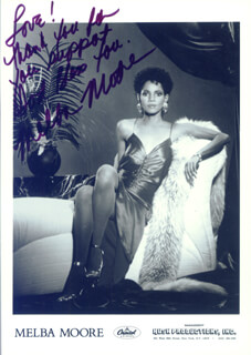 MELBA MOORE - AUTOGRAPHED SIGNED PHOTOGRAPH