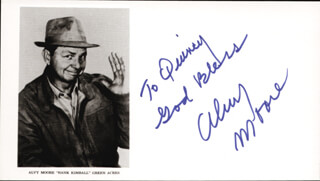 ALVY MOORE - AUTOGRAPHED INSCRIBED PHOTOGRAPH