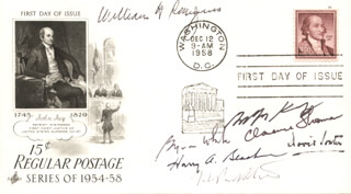 THE WILLIAM H. REHNQUIST COURT - FIRST DAY COVER SIGNED 1958 CO-SIGNED BY: ASSOCIATE JUSTICE BYRON R. WHITE, ASSOCIATE JUSTICE ANTHONY M. KENNEDY, ASSOCIATE JUSTICE DAVID H. SOUTER, ASSOCIATE JUSTICE CLARENCE THOMAS, CHIEF JUSTICE WILLIAM H. REHNQUIST, ASSOCIATE JUSTICE HARRY A. BLACKMUN, ASSOCIATE JUSTICE JOHN PAUL STEVENS