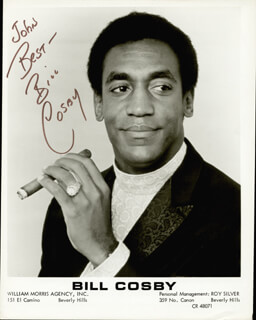 BILL COSBY - INSCRIBED PRINTED PHOTOGRAPH SIGNED IN INK