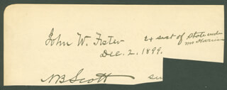 Autographs: JOHN W. FOSTER - AUTOGRAPH NOTE SIGNED 05/05/1900 CO-SIGNED BY: FREDERICK WARDE