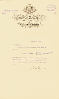 Autographs: VICE PRESIDENT NELSON A. ROCKEFELLER - DOCUMENT SIGNED 01/11/1962