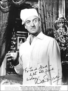 DAVID NIVEN - INSCRIBED PRINTED PHOTOGRAPH SIGNED IN INK
