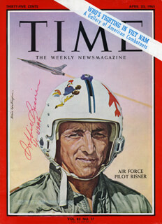 Autographs: BRIGADIER GENERAL JAMES R. ROBBIE RISNER - MAGAZINE COVER SIGNED