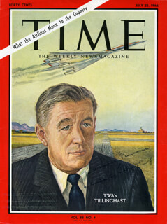 Autographs: CHARLES C. TILLINGHAST, JR. - INSCRIBED MAGAZINE COVER SIGNED