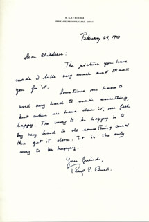 PEARL S. BUCK - AUTOGRAPH LETTER SIGNED 02/24/1940