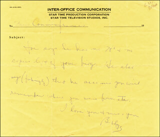 BOBBY DARIN - AUTOGRAPH LETTER SIGNED