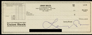 LENNY BRUCE - AUTOGRAPHED SIGNED CHECK