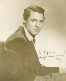 CARY GRANT - AUTOGRAPHED INSCRIBED PHOTOGRAPH