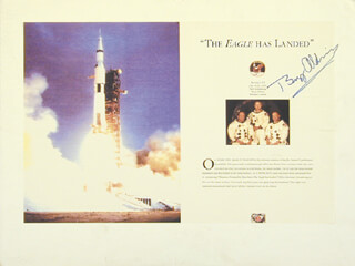 Autographs: COLONEL BUZZ ALDRIN - BOOK PAGE SIGNED