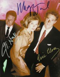 DARK SKIES TV CAST - AUTOGRAPHED SIGNED PHOTOGRAPH CO-SIGNED BY: J. T. WALSH, MEGAN WARD, ERIC CLOSE