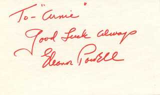 ELEANOR POWELL - AUTOGRAPH NOTE SIGNED