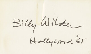 BILLY WILDER - AUTOGRAPH 1965