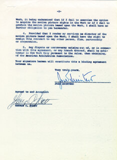 GEORGE C. SCOTT - DOCUMENT DOUBLE SIGNED 12/31/1963 CO-SIGNED BY: JOSE B. QUINTERO