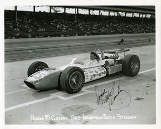 ROGER McCLUSKEY - AUTOGRAPHED SIGNED PHOTOGRAPH