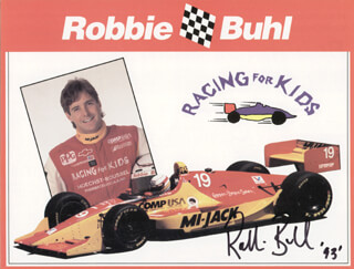 Autographs: ROBBIE BUHL - PRINTED PHOTOGRAPH SIGNED IN INK 1993