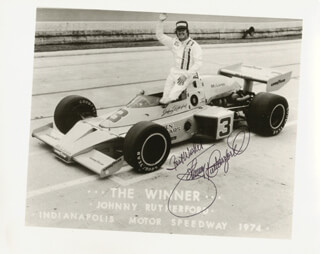 JOHNNY RUTHERFORD - AUTOGRAPHED SIGNED PHOTOGRAPH