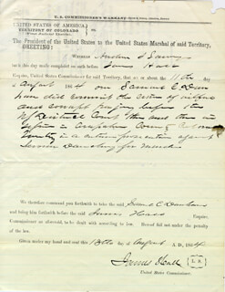 JAMES HALL - DOCUMENT SIGNED 08/11/1864