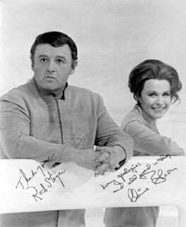 ROD STEIGER - AUTOGRAPHED SIGNED PHOTOGRAPH CO-SIGNED BY: CLAIRE BLOOM