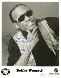 BOBBY WOMACK - AUTOGRAPHED SIGNED PHOTOGRAPH
