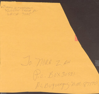 JIMMY WITHERSPOON - AUTOGRAPH ENVELOPE SIGNED