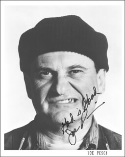 JOE PESCI - AUTOGRAPHED SIGNED PHOTOGRAPH