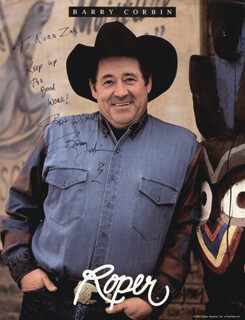 BARRY CORBIN - INSCRIBED ADVERTISEMENT SIGNED